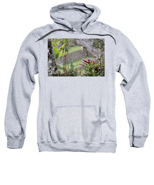Peeking In At Machu Picchu Sweatshirt