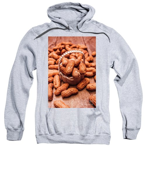 Peanuts In Tiny Basket In Close-up Sweatshirt