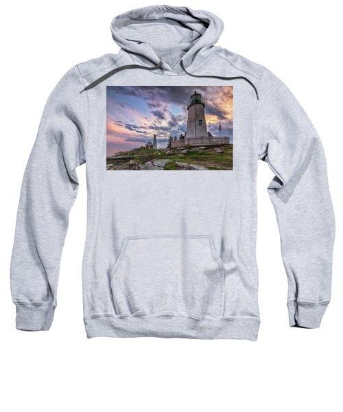 Pemaquid Point Lighthouse At Sundown Sweatshirt