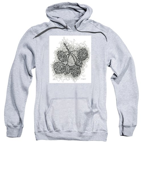 Pen And Ink Drawing Of Aspen Leaves Sweatshirt