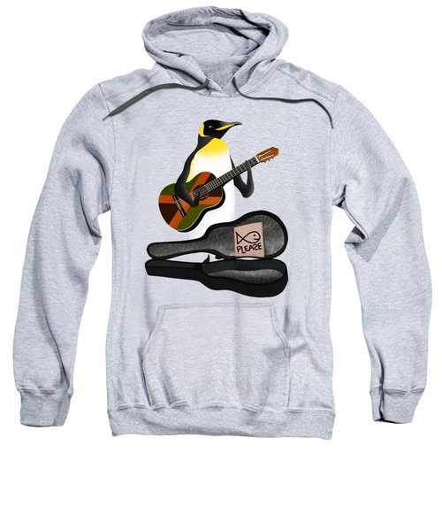 Penguin Busker Sweatshirt by Early Kirky