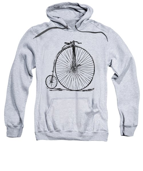 Penny-farthing 1867 High Wheeler Bicycle Vintage Sweatshirt by Nikki Marie Smith