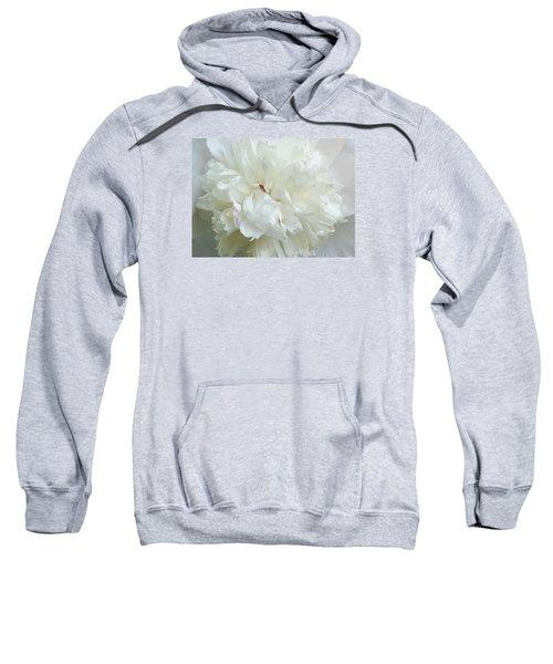 Peony In White Sweatshirt