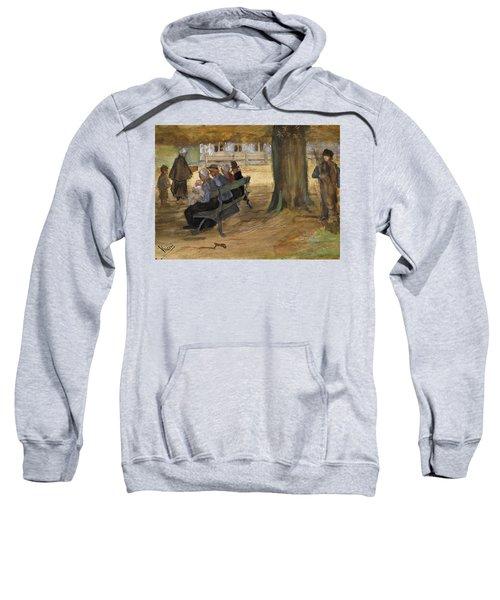 People Sitting On A Bench In Bezuidenhout. The Hague Sweatshirt