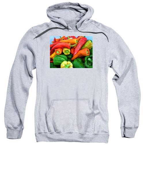 Sweatshirt featuring the photograph Pepper Medley 1 by Dee Flouton