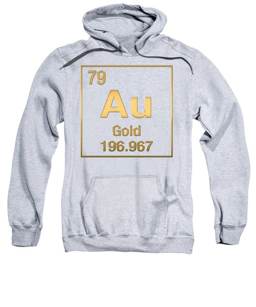 Periodic Table Of Elements - Gold - Au - Gold On Gold Sweatshirt