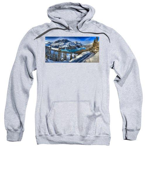 Peyto Lake Winter Panorama Sweatshirt