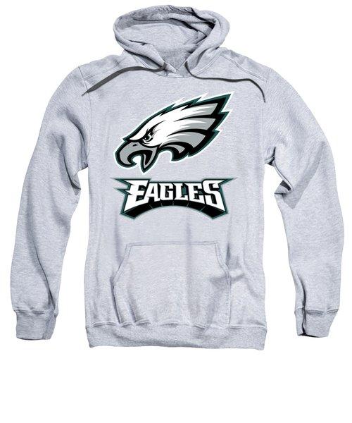 Philadelphia Eagles On An Abraded Steel Texture Sweatshirt