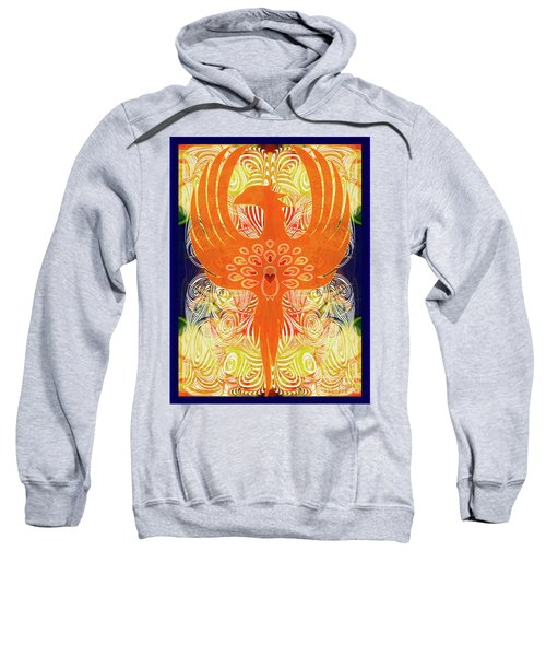 Phonix Rising Abstract Healing Art By Omashte Sweatshirt
