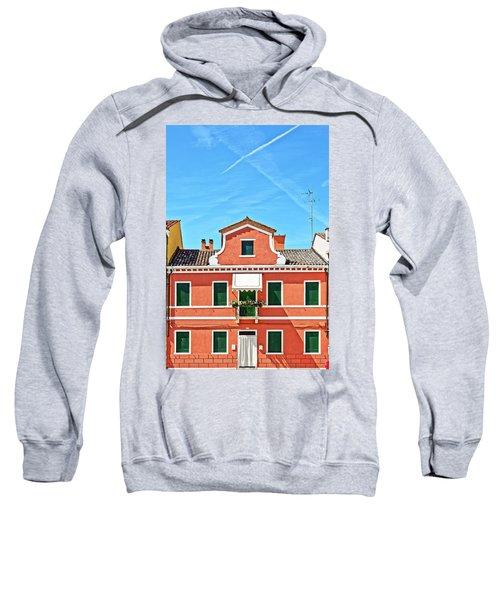 Picturesque House In Burano Sweatshirt