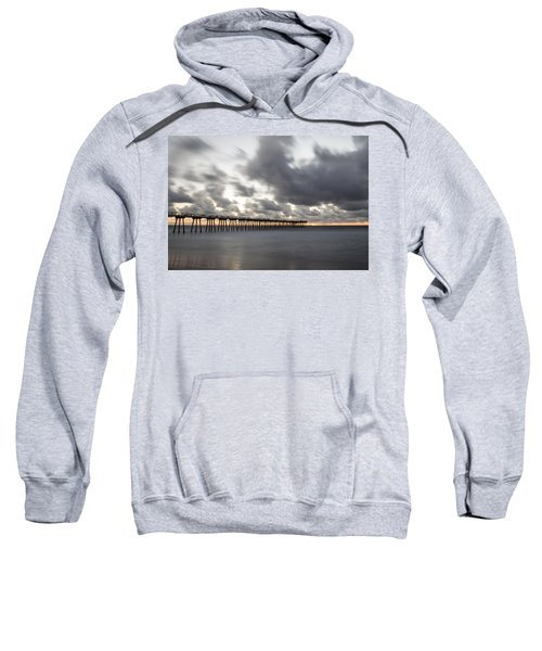 Pier In Misty Waters Sweatshirt