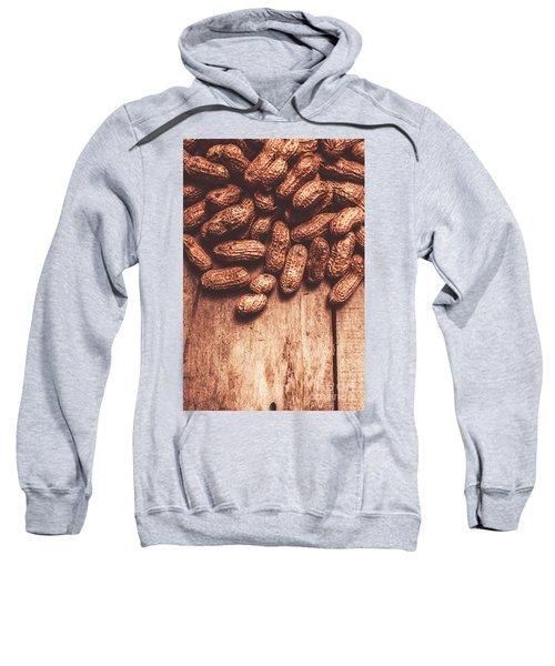 Pile Of Peanuts Covering Top Half Of Board Sweatshirt