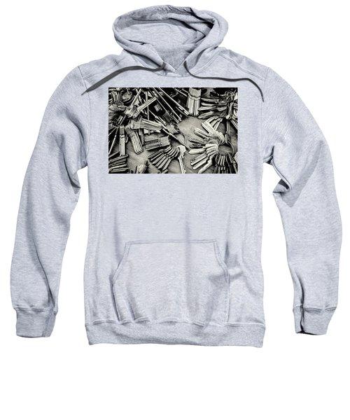 Piles Of Blank Keys In Monochrome Sweatshirt