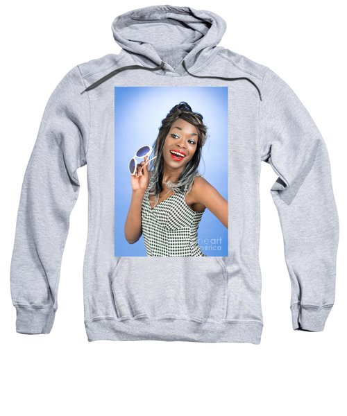Pin Up Style With Sunglasses Sweatshirt