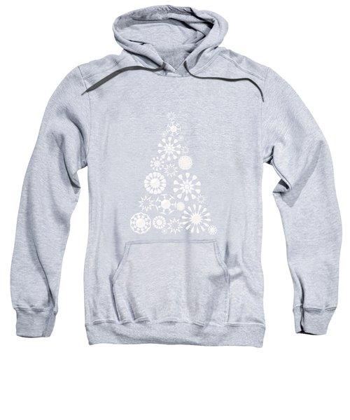 Pine Tree Snowflakes - Baby Blue Sweatshirt