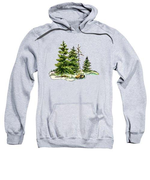 Pine Tree Watercolor Ink Image I         Sweatshirt