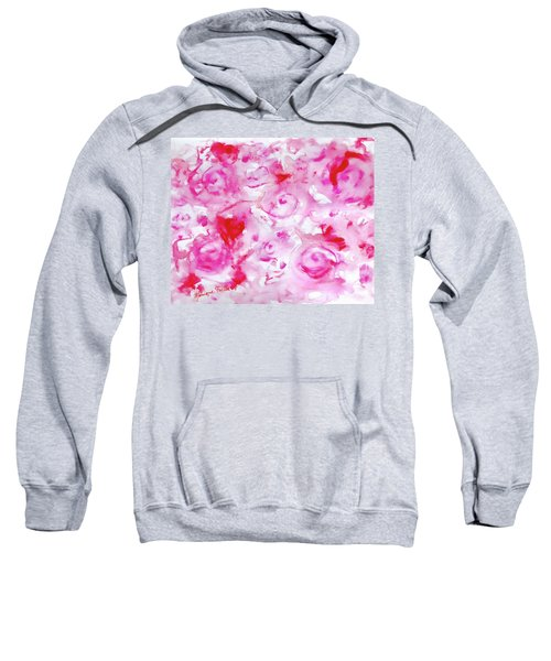 Pink Abstract Floral Sweatshirt
