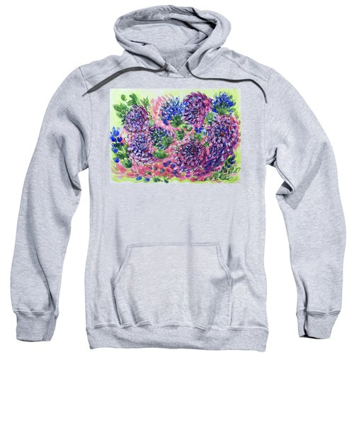 Pink And Blue Flower Flurry Sweatshirt