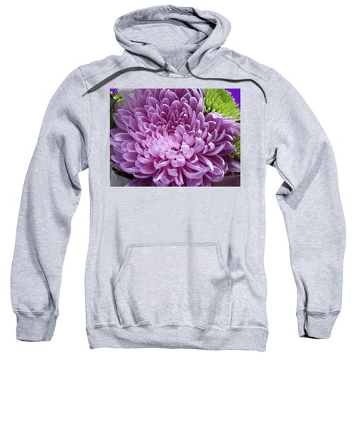Pink And Green Defined Sweatshirt