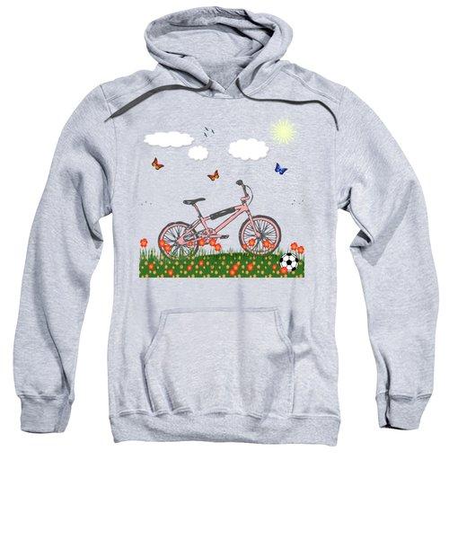 Pink Bicycle Sweatshirt by Gaspar Avila