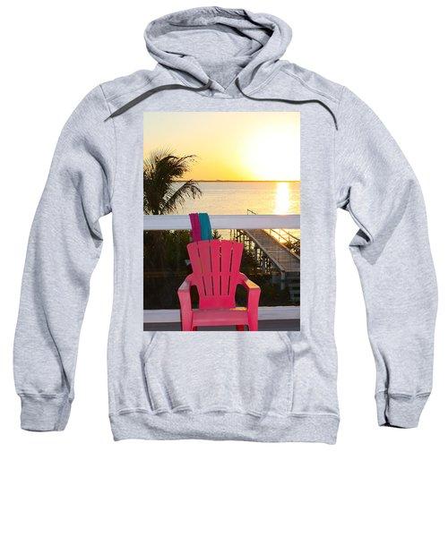 Pink Chair In The Keys Sweatshirt