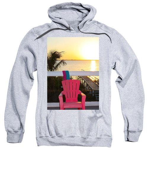 Pink Chair In The Keys Sweatshirt