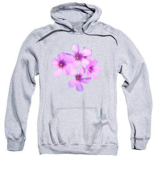Pink Cutout Flowers Sweatshirt