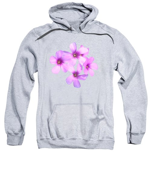 Pink Cutout Flowers Sweatshirt