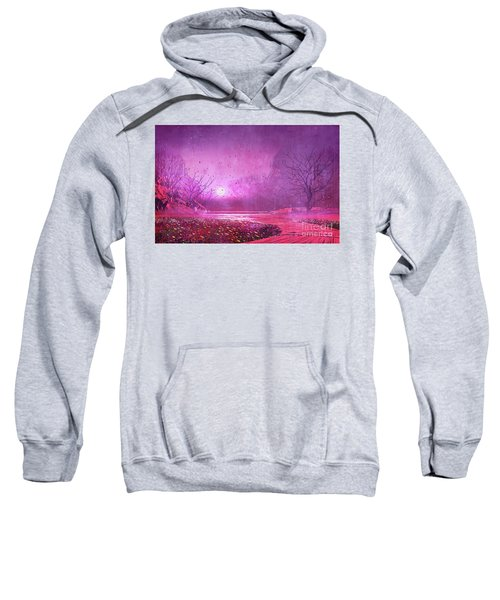 Sweatshirt featuring the painting Pink Landscape by Tithi Luadthong