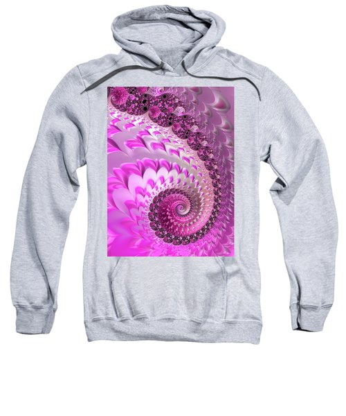 Pink Spiral With Lovely Hearts Sweatshirt