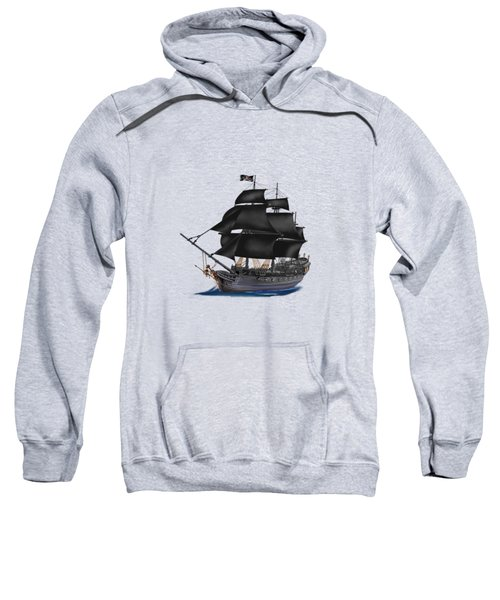 Pirate Ship At Sunset Sweatshirt by Glenn Holbrook