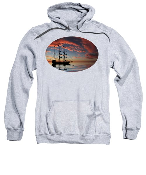 Pirate Ship At Sunset Sweatshirt
