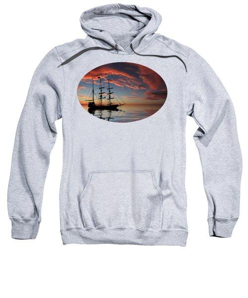 Pirate Ship At Sunset Sweatshirt