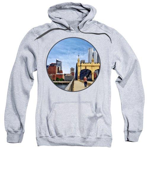 Pittsburgh Pa - Crossing The Smithfield Street Bridge Sweatshirt
