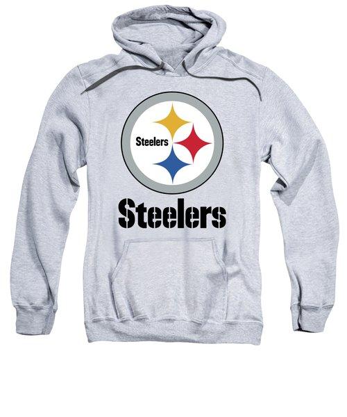 Pittsburgh Steelers On An Abraded Steel Texture Sweatshirt