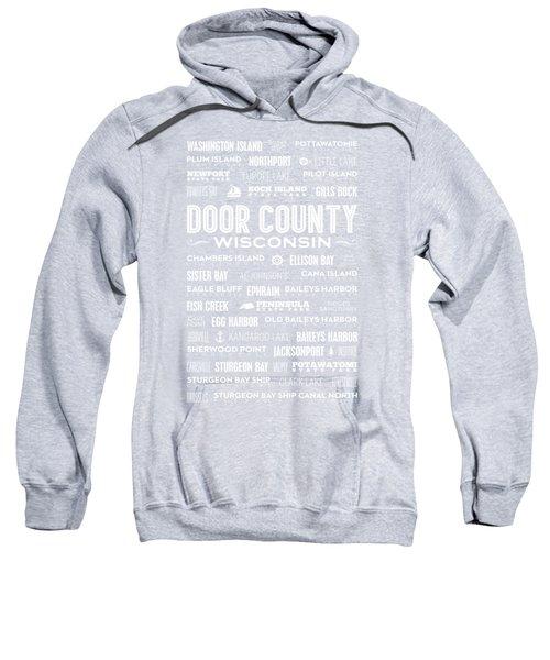 Places Of Door County On Blue Sweatshirt