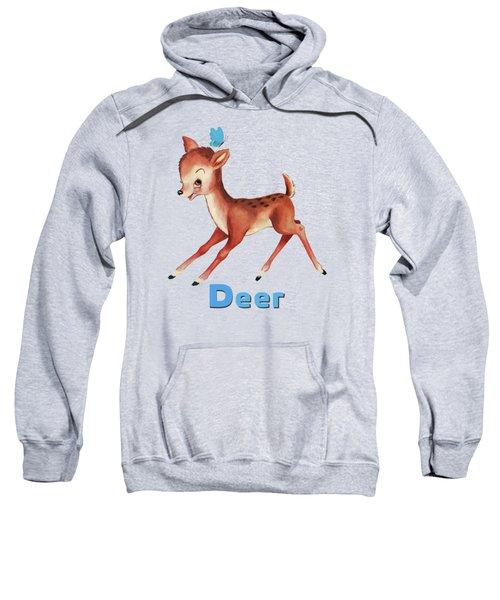 Playful Baby Deer Pattern Sweatshirt