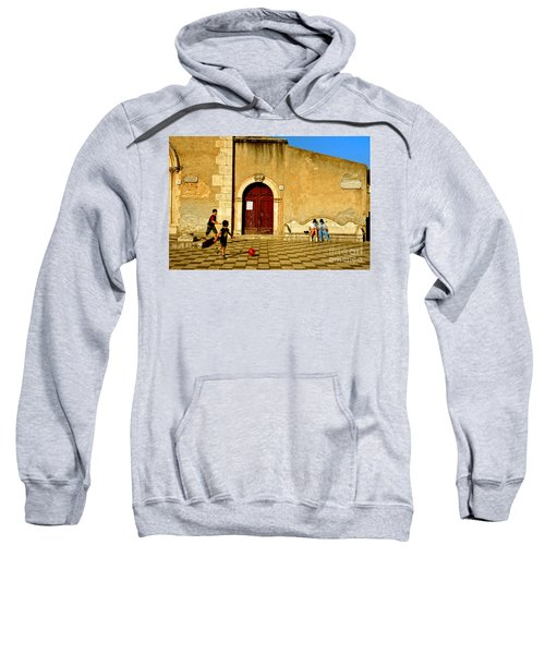Playing In Taormina Sweatshirt by Silvia Ganora