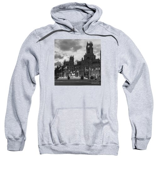 Plaza De Cibeles Fountain Madrid Spain Sweatshirt