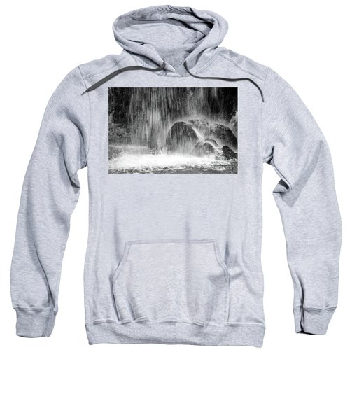 Plitvice Waterfall Black And White Closeup - Plitivice Lakes National Park, Croatia Sweatshirt