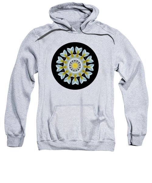 Plumeria Mandala By Kaye Menner Sweatshirt by Kaye Menner