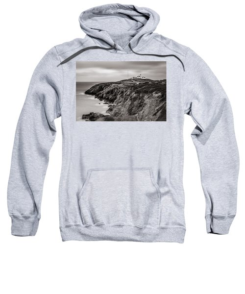 Point Lynas Lighthouse In Llaneilian On Anglesey Sweatshirt