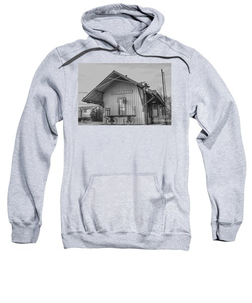 Pompton Plains Railroad Station And Baggage Cart Sweatshirt