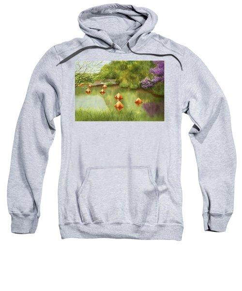 Pond At Olbrich Botanical Garden Sweatshirt