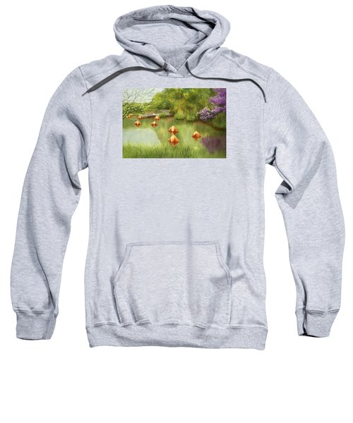 Pond At Olbrich Botanical Garden Sweatshirt