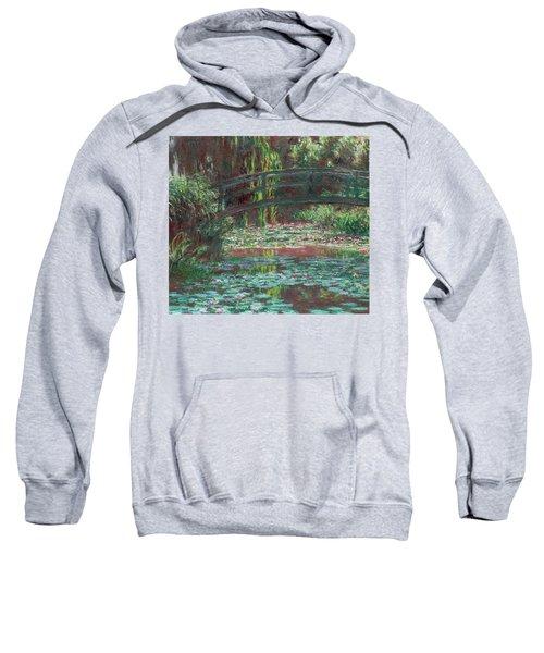 The Bridge Over The Waterlily Pond 1900 Sweatshirt