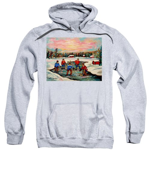 Pond Hockey Countryscene Sweatshirt