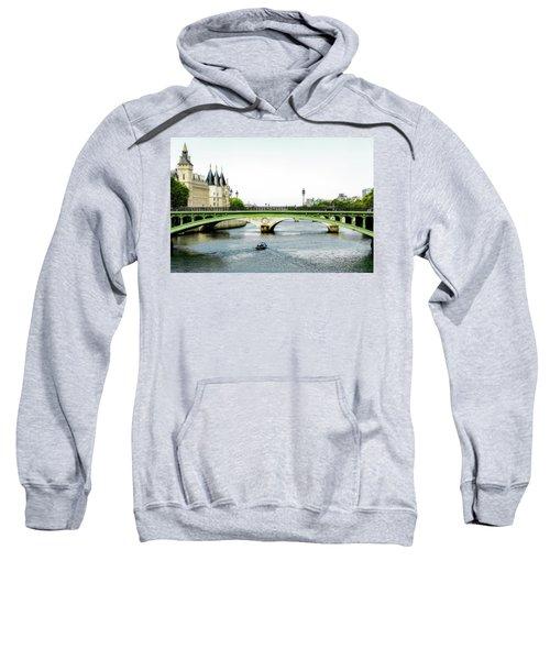 Pont Au Change Over The Seine River In Paris Sweatshirt