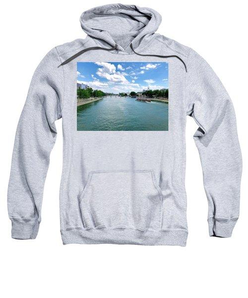 River Seine At Pont Du Carrousel Sweatshirt