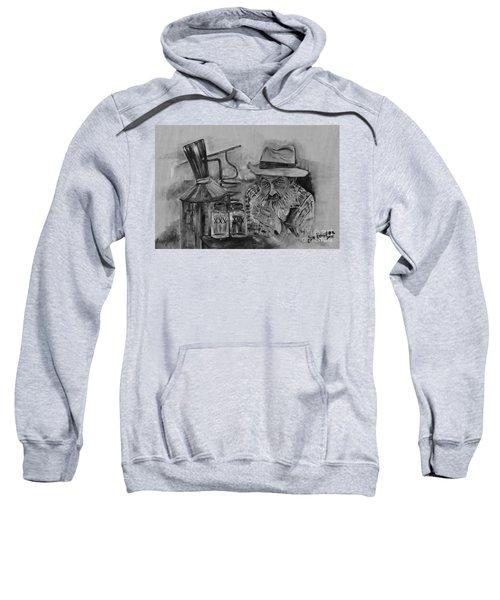 Popcorn Sutton - Black And White - Waiting On Shine Sweatshirt